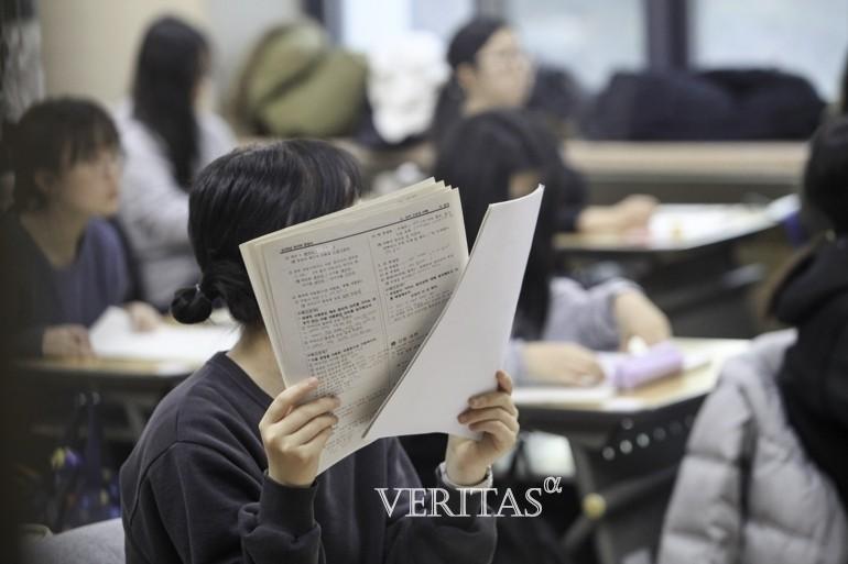 올해 대학생 중 반수 의향이 있는 학생 비중이 절반에 가깝다는 설문조사 결과가 나왔다. /사진=베리타스알파DB